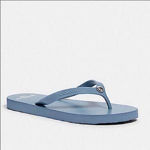 Coach Flip Flops Blue Size 8